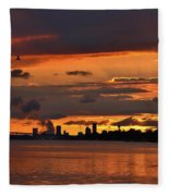 Sunset Flight Of The Tern Fleece Blanket