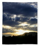 Sunset From Mcarthur Island Fleece Blanket