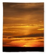 Sunset Gate 17 Fleece Blanket