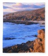 Sunset Glow Along Pacific Coast Fleece Blanket