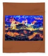 Sunset Glow At Mather Point Fleece Blanket