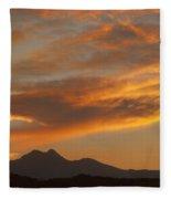 Sunset Glow Over The Twin Peaks Fleece Blanket