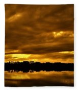 Sunset Gold Fleece Blanket