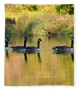 Sunset Goose Fleece Blanket