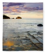 Sunset Grid Fleece Blanket