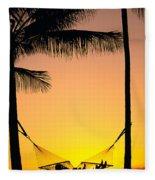Sunset Hammock Fleece Blanket