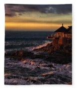 Sunset Hdr Fleece Blanket
