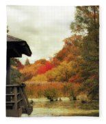 Sunset Horizon Fleece Blanket