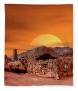 Sunset House Fleece Blanket