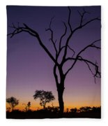 Sunset In Africa Fleece Blanket