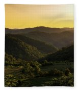 Sunset In Appalachia Fleece Blanket
