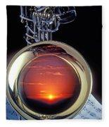 Sunset In Bell Of Sax Fleece Blanket