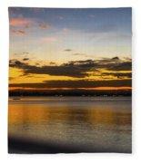 Sunset In Dar Fleece Blanket