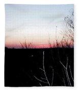 Sunset In Door County Fleece Blanket