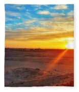 Sunset In Egypt Fleece Blanket