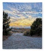 Sunset In El Prado Fleece Blanket