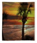 Sunset In Florida Fleece Blanket