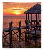 Sunset In Hatteras Fleece Blanket