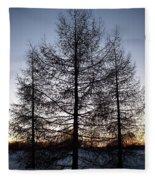 Sunset In Kemi Fleece Blanket