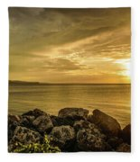 Sunset In Montego Bay Fleece Blanket