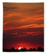 Sunset In The City Fleece Blanket
