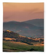 Sunset In The Countryside Fleece Blanket