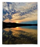Sunset In The Pinelands  Fleece Blanket