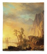 Sunset In The Rockies Fleece Blanket