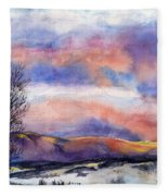 Sunset In The Rockies Fleece Blanket