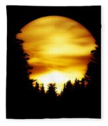Sunset In The Round Fleece Blanket