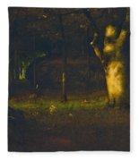 Sunset In The Woods Fleece Blanket