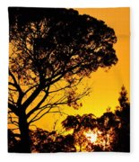 Sunset In Tujunga Fleece Blanket