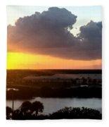 Sunset In Viera Florida Fleece Blanket