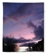 Sunset In Winter Skies  Fleece Blanket