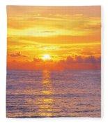 Sunset, Indian Rocks Beach, Florida, Usa Fleece Blanket