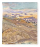 Sunset, John Singer Sargent Fleece Blanket