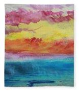 Sunset Lagoon Fleece Blanket
