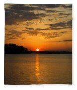 Sunset Lake Pat Mayse From Sanders Cove Fleece Blanket