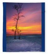 Sunset Light Fleece Blanket