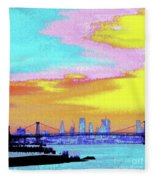 Sunset Lower Manhattan 2c5 Fleece Blanket