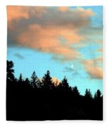 Sunset Moon Fleece Blanket