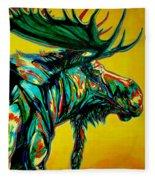 Sunset Moose Fleece Blanket