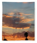 Sunset Moreno Valley Ca Fleece Blanket