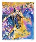 Sunset Mustang Fleece Blanket