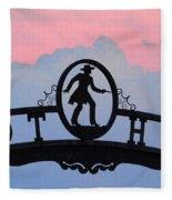 Sunset On Boot Hill Fleece Blanket