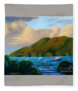 Sunset On Cruz Bay Fleece Blanket