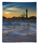 Sunset On Fire Island Fleece Blanket