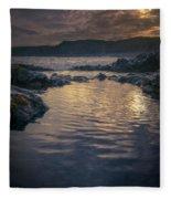 Sunset On Iceland Fleece Blanket