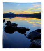 Sunset On Lake Harris 2 Fleece Blanket