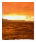 Sunset On Lake Tahoe, California Fleece Blanket